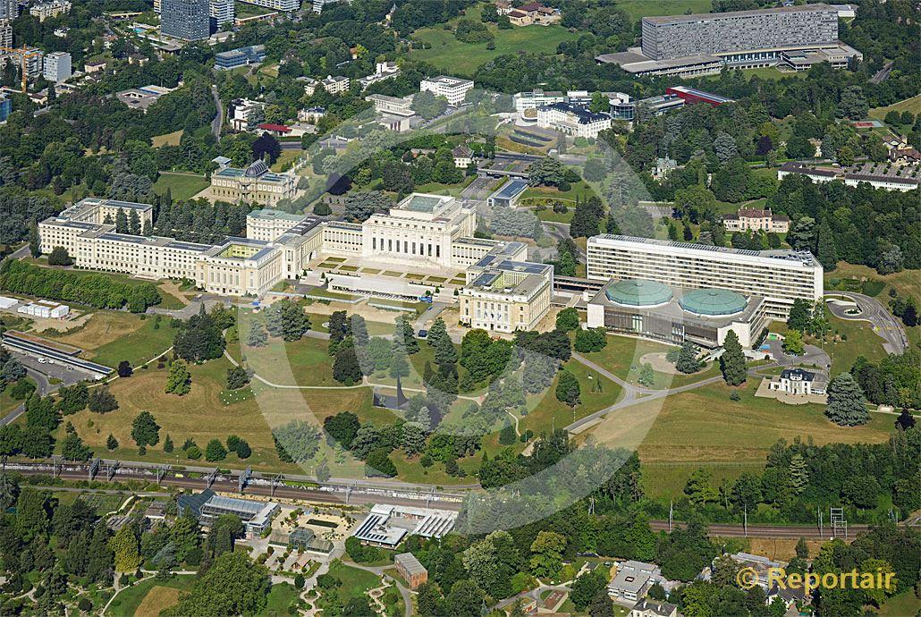 Foto: Der UNO-Hauptsitz in Genf. (Luftaufnahme von Niklaus Wächter)