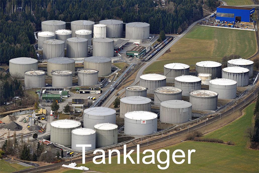 Foto: TANKLAGER. (Luftaufnahme von Niklaus Wächter)