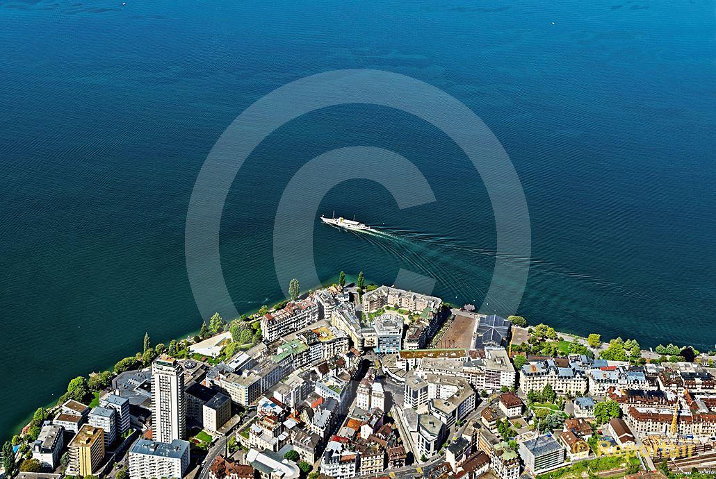 Foto: Adieu Montreux. (Luftaufnahme von Niklaus Wächter)