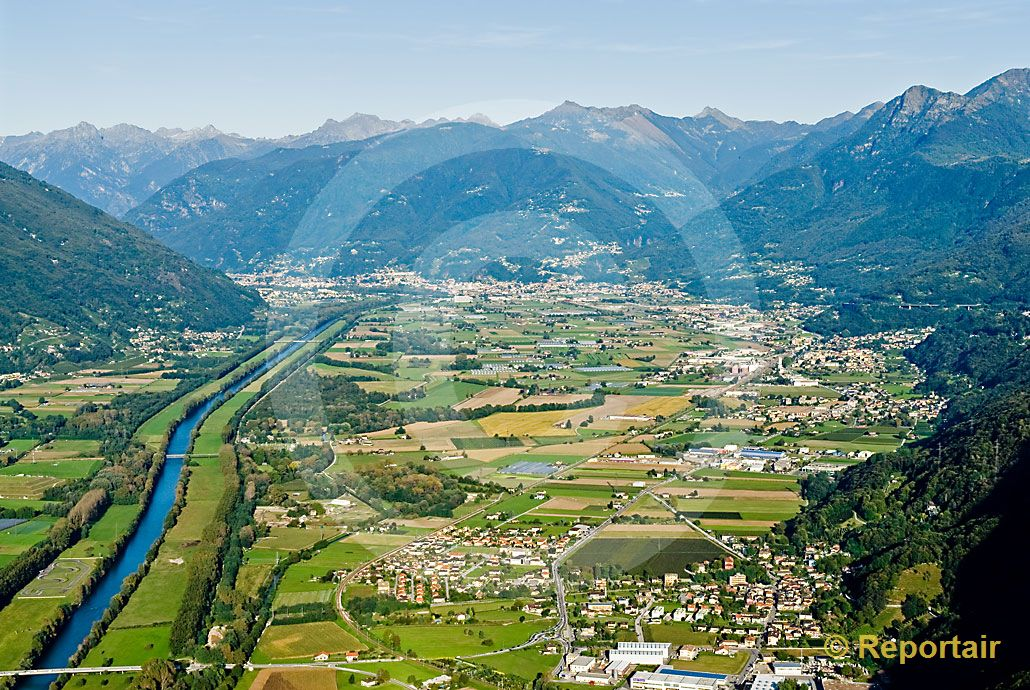 foto die magadinoebene zwischen lago maggiore und