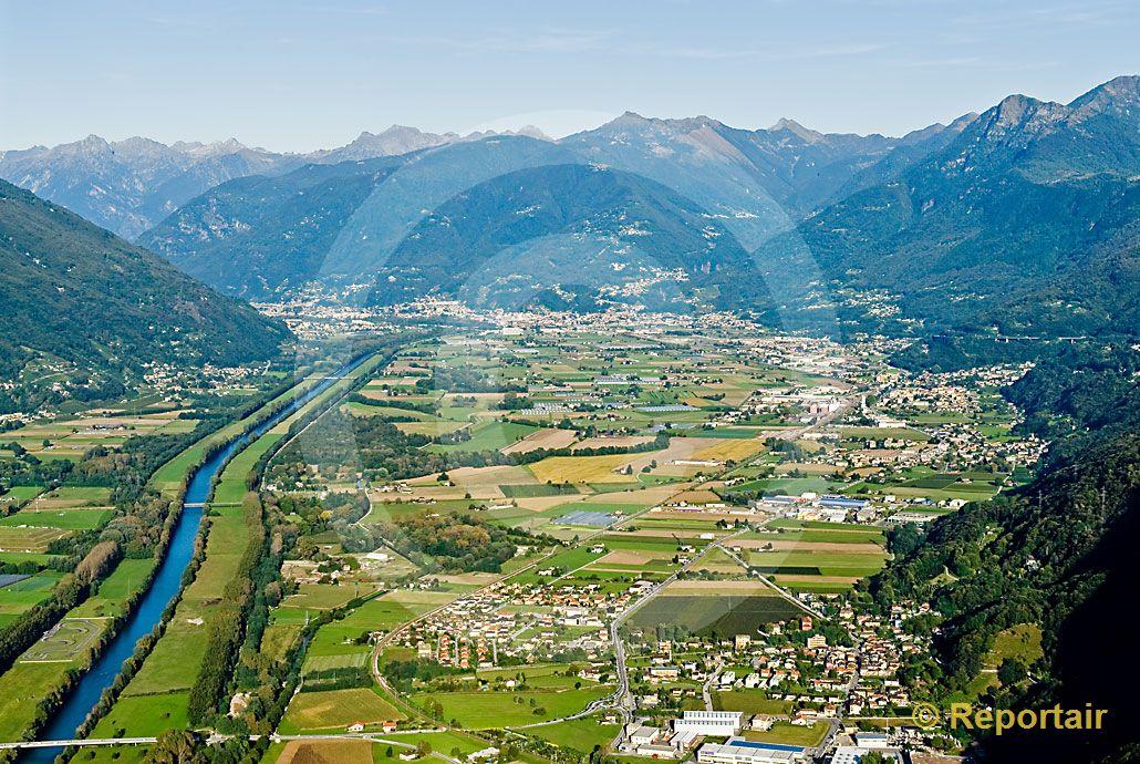 Foto die magadinoebene zwischen lago maggiore und for Ti arreda giubiasco