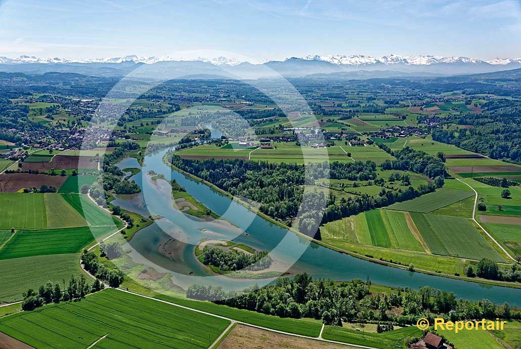 Foto: Der Flachsee bei Unterlunkhofen AG. (Luftaufnahme von Niklaus Wächter)