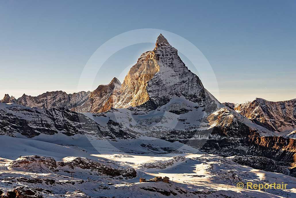 Foto: Das Matterhorn bei Zermatt VS . (Luftaufnahme von Niklaus Wächter)
