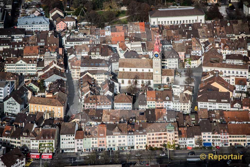Foto: Die Altstadt von Winterthur ZH. (Luftaufnahme von Niklaus Wächter)