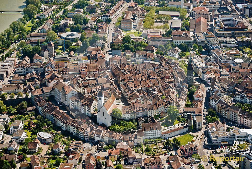 Foto: Die Altstadt von Aarau.. (Luftaufnahme von Niklaus Wächter)