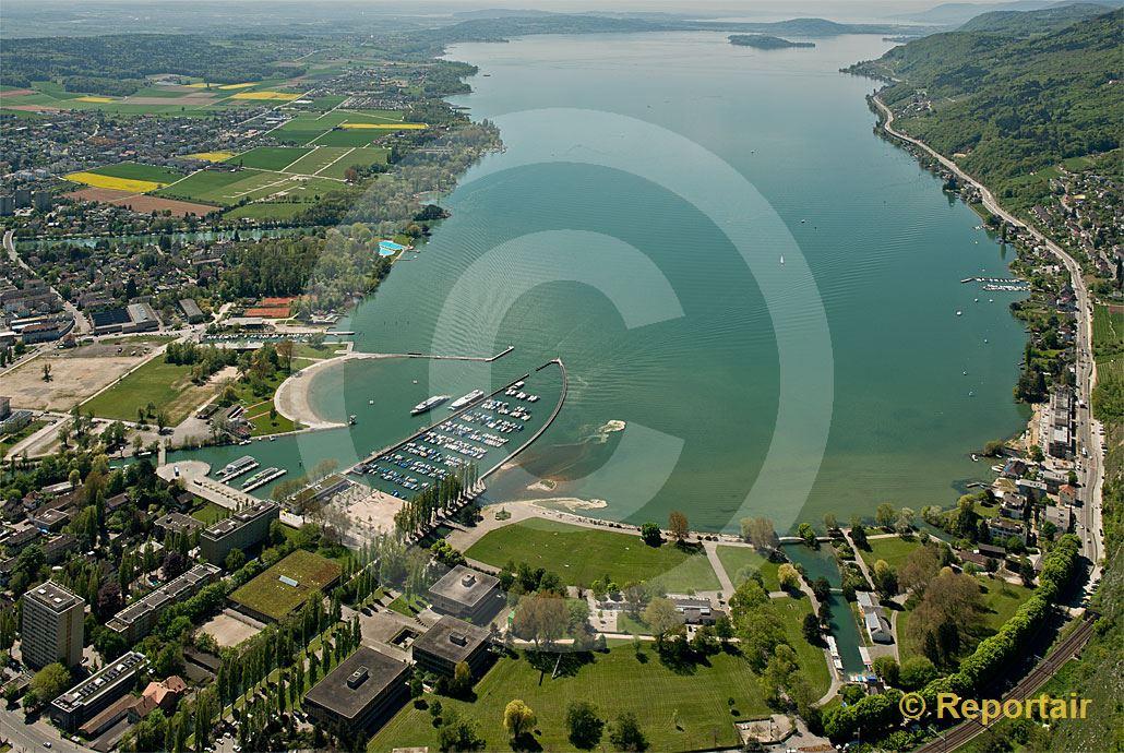 Foto: Der Bielersee von Norden gesehen.. (Luftaufnahme von Niklaus Wächter)