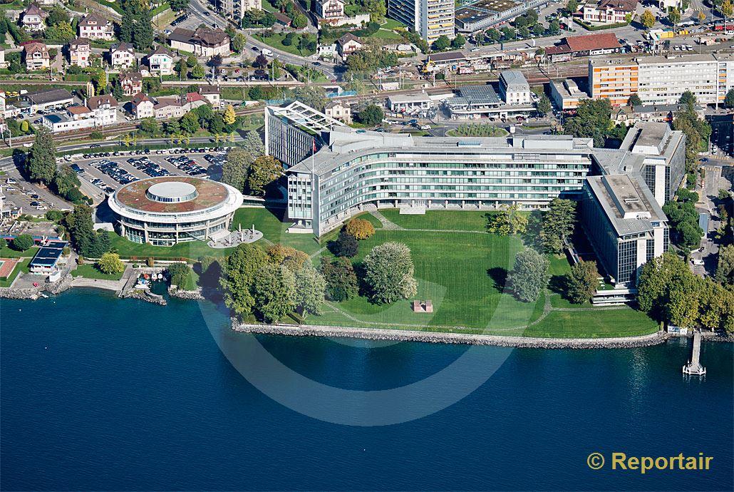 Foto: Der Hauptsitz von Nestle in Vevey (VD). (Luftaufnahme von Niklaus Wächter)
