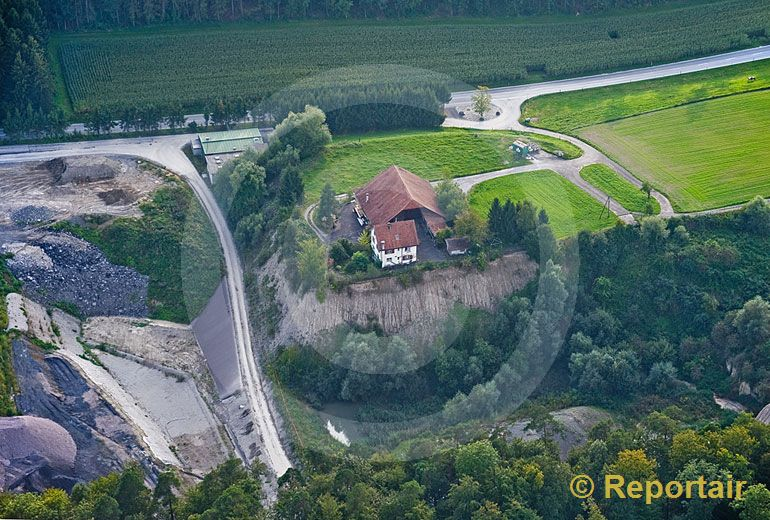 Foto: Landwirtschaft am Abgrund. (Luftaufnahme von Niklaus Wächter)