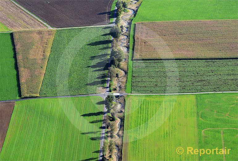 Foto: Natur und Landwirtschaft. (Luftaufnahme von Niklaus Wächter)