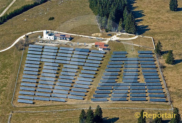 Foto: Solarenergie. (Luftaufnahme von Niklaus Wächter)