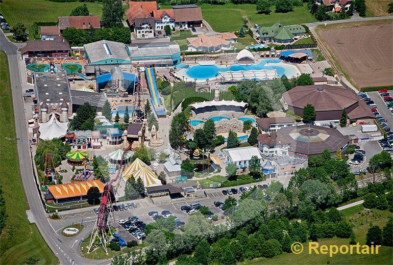 Foto: Der Freizeit-Park Conny-Land bei Lipperswil TG. (Luftaufnahme von Niklaus Wächter)