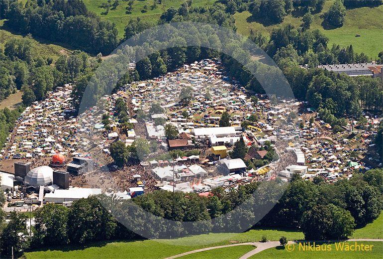 Foto: Open-Air in St.Gallen. (Luftaufnahme von Niklaus Wächter)