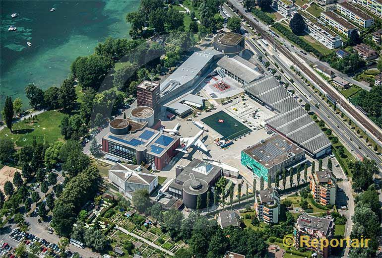 Foto: Verkehrshaus der Schweiz in Luzern.. (Luftaufnahme von Niklaus Wächter)