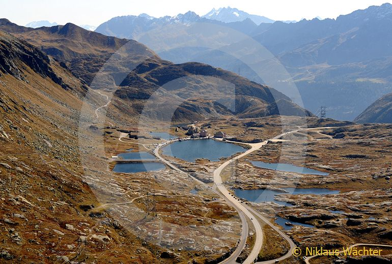 Foto: Gotthardpass. (Luftaufnahme von Niklaus Wächter)