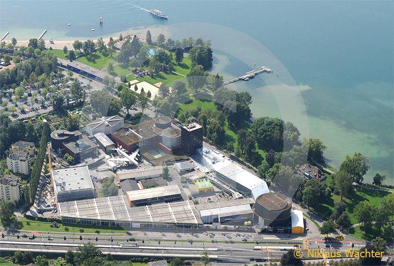 Foto: Verkehrshaus der Schweiz in Luzern. (Luftaufnahme von Niklaus Wächter)
