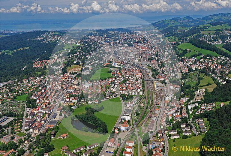Foto: St.Gallen (SG). (Luftaufnahme von Niklaus Wächter)