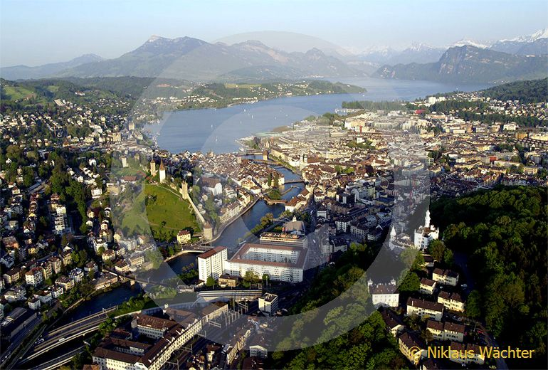 Foto: Luzern. (Luftaufnahme von Niklaus Wächter)
