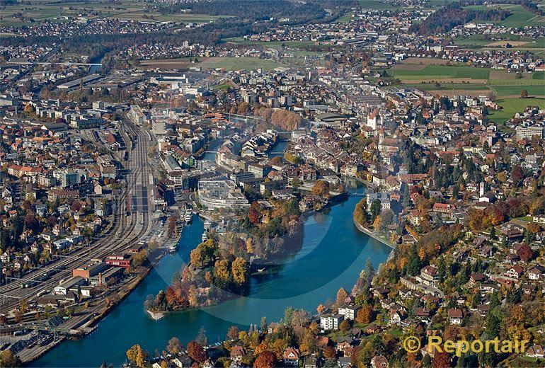 Foto: Thun (BE). (Luftaufnahme von Niklaus Wächter)