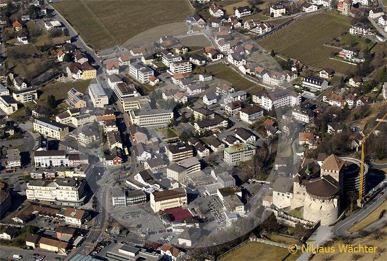Foto: Vaduz FL. (Luftaufnahme von Niklaus Wächter)