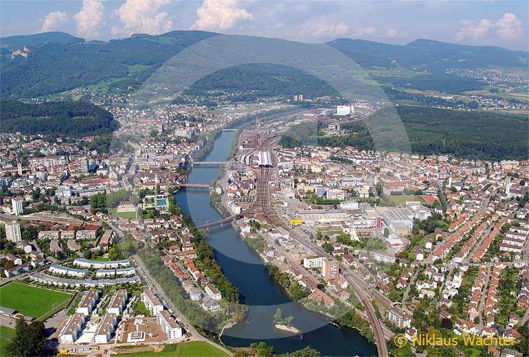 Foto: Olten. (Luftaufnahme von Niklaus Wächter)
