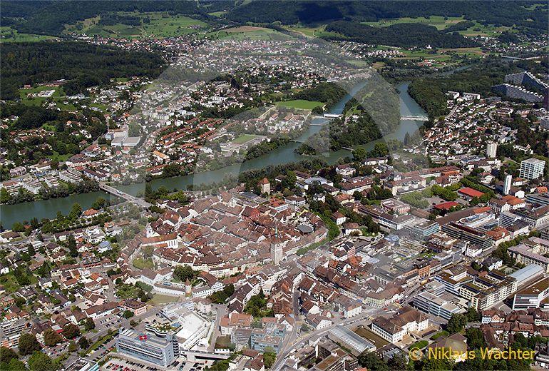 Foto: Aarau. (Luftaufnahme von Niklaus Wächter)