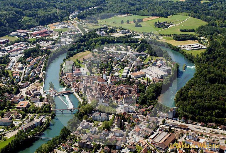 Foto: Bremgarten. (Luftaufnahme von Niklaus Wächter)