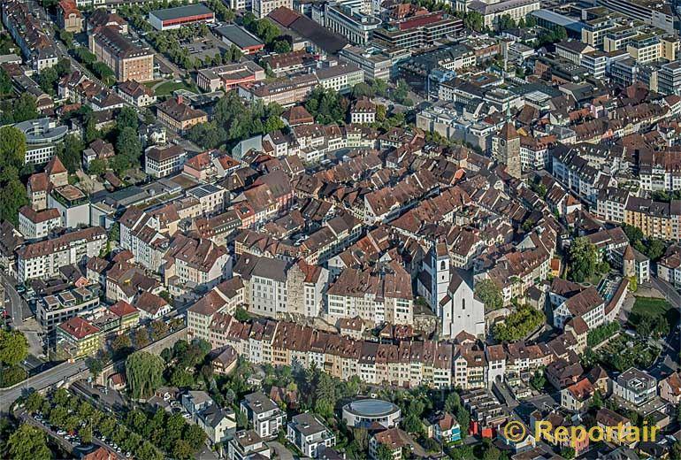 Foto: Altstadt Aarau.. (Luftaufnahme von Niklaus Wächter)