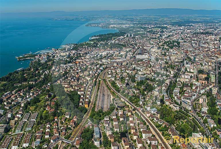 Foto: Lausanne.. (Luftaufnahme von Niklaus Wächter)