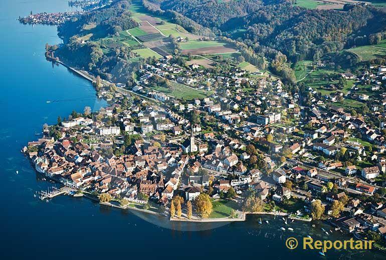Foto: Steckborn (TG) am Untersee.. (Luftaufnahme von Niklaus Wächter)