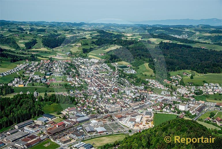 Foto: Willisau (LU). (Luftaufnahme von Niklaus Wächter)