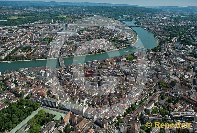 Foto: Basel. (Luftaufnahme von Niklaus Wächter)