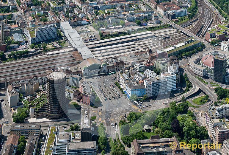 Foto: Basel Hauptbahnhof. (Luftaufnahme von Niklaus Wächter)