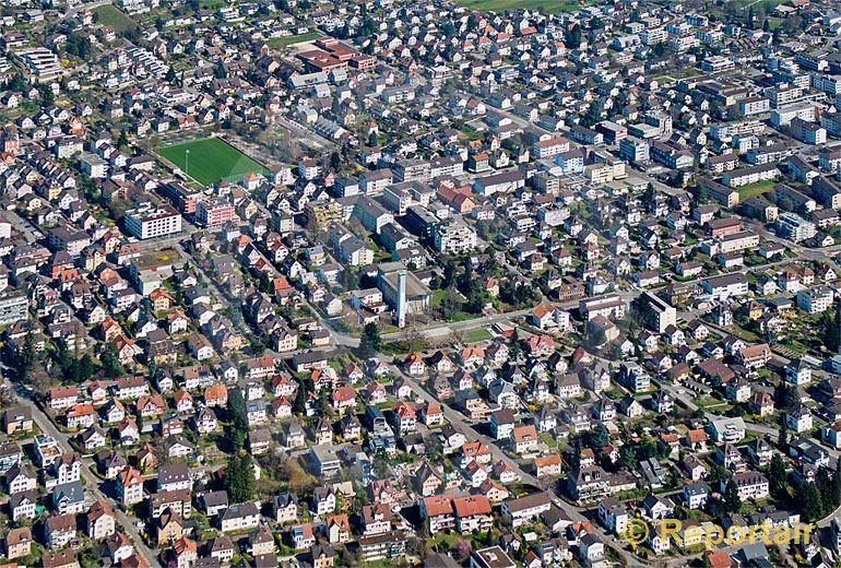 Foto: Dichte Bauweise in Wettingen AG.. (Luftaufnahme von Niklaus Wächter)