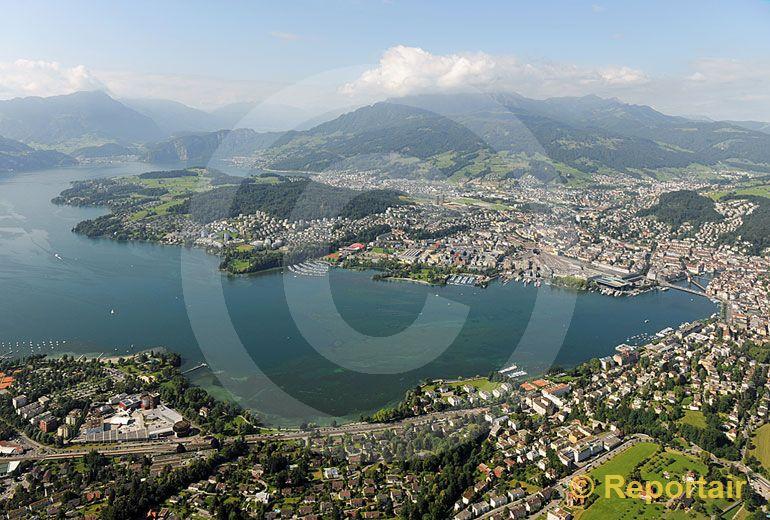 Foto: Die Touristenmetropole Luzern. (Luftaufnahme von Niklaus Wächter)
