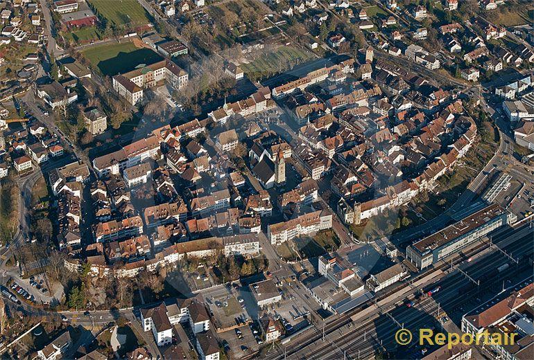 Foto: Die Altstadt von Zofingen. (Luftaufnahme von Niklaus Wächter)