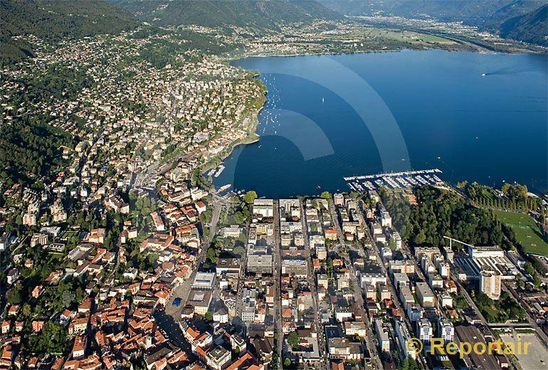 Foto: Locarno TI. (Luftaufnahme von Niklaus Wächter)