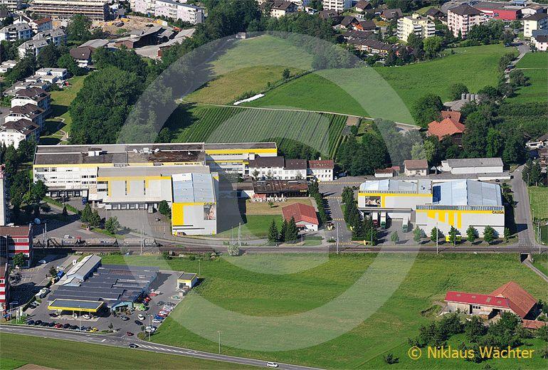 Foto: Hauptsitz der Calida AG in Sursee LU. (Luftaufnahme von Niklaus Wächter)