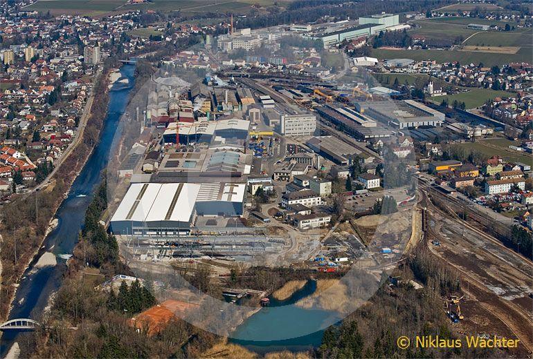 Foto: Stahlwerk Gerlafingen (SO). (Luftaufnahme von Niklaus Wächter)