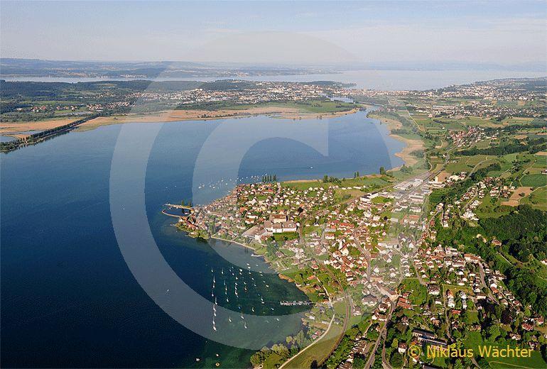 Foto: Am Untersee des Bodensees bei Ermatingen TG. (Luftaufnahme von Niklaus Wächter)