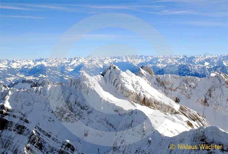 Foto: Der Saentis. (Luftaufnahme von Niklaus Wächter)