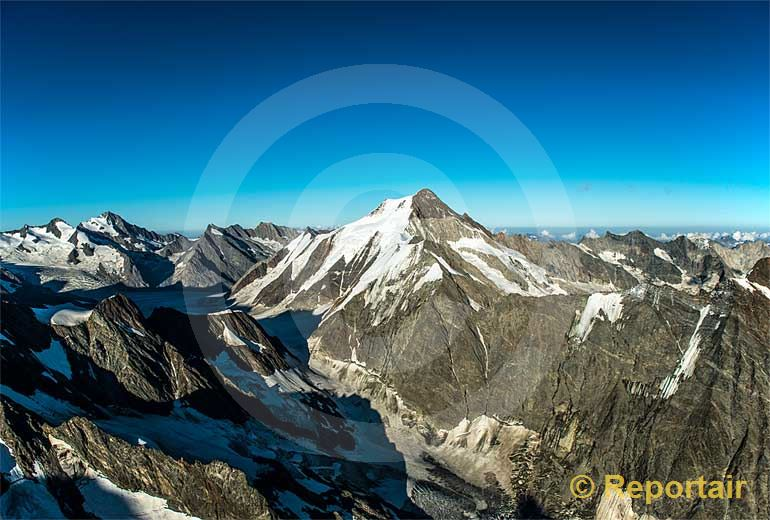 Foto: Das Aletschhorn.. (Luftaufnahme von Niklaus Wächter)