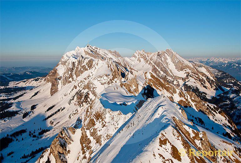 Foto: Die Säntiskette. (Luftaufnahme von Niklaus Wächter)