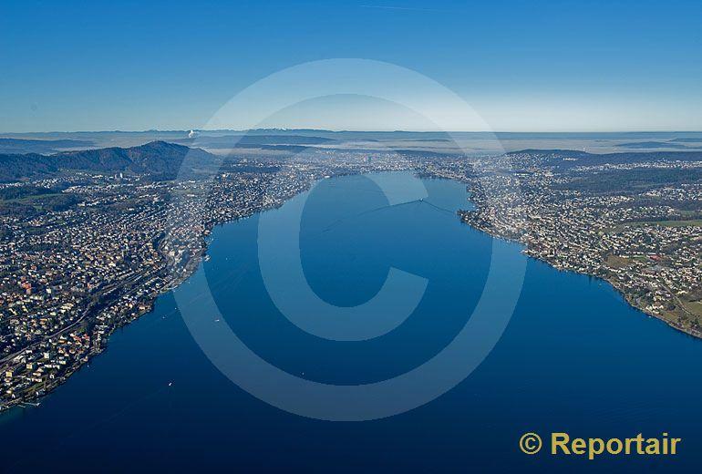 Foto: Der nördliche Teile des Zürichsee. (Luftaufnahme von Niklaus Wächter)