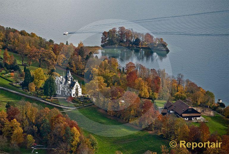 Foto: Meggenhorn mit Schloss. (Luftaufnahme von Niklaus Wächter)