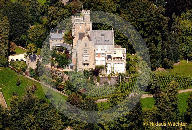 Foto: Luftaufnahme Schloss Neuhabsburg in Meggen. (Luftaufnahme von Niklaus Wächter)