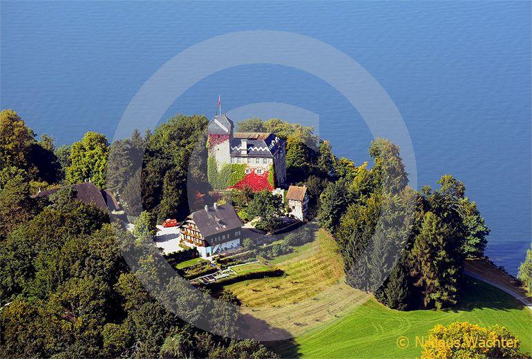 Foto: Luftaufnahme Schloss Buonas am Zugersee. (Luftaufnahme von Niklaus Wächter)