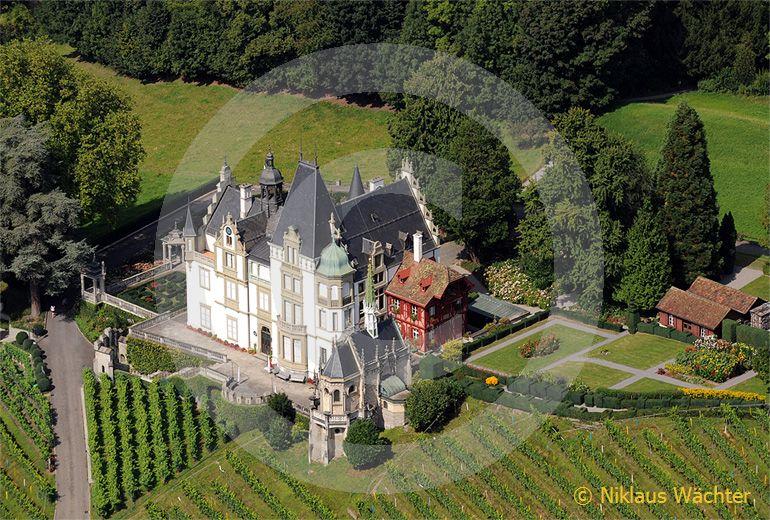 Foto: Luftaufnahme Schloss Meggerhorn in Meggen. (Luftaufnahme von Niklaus Wächter)