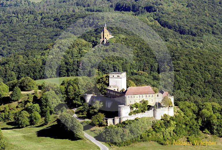 Foto: Luftaufnahme Giechburg bei Schesslitz, Deutschland. (Luftaufnahme von Niklaus Wächter)