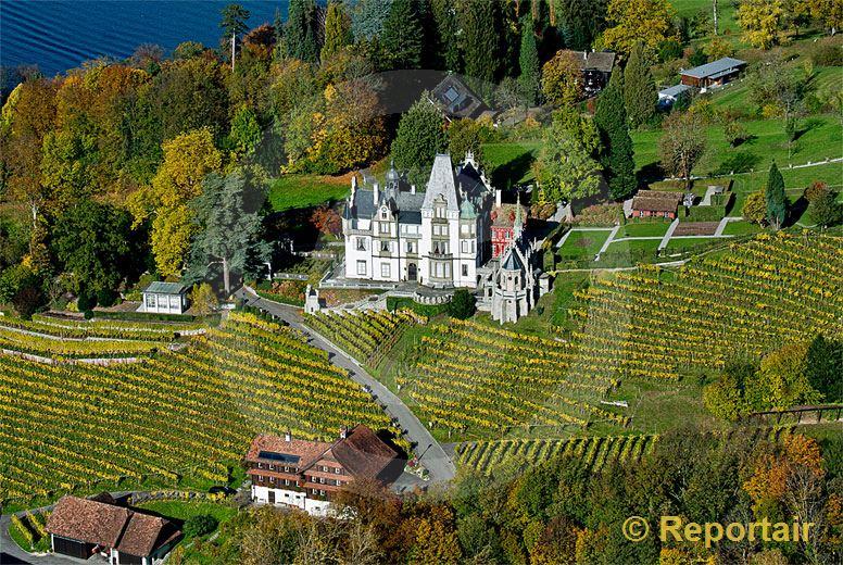 Foto: Neuerdings ein offizieller Trauungsort Das Schloss Meggenhorn in Meggen (LU). (Luftaufnahme von Niklaus Wächter)