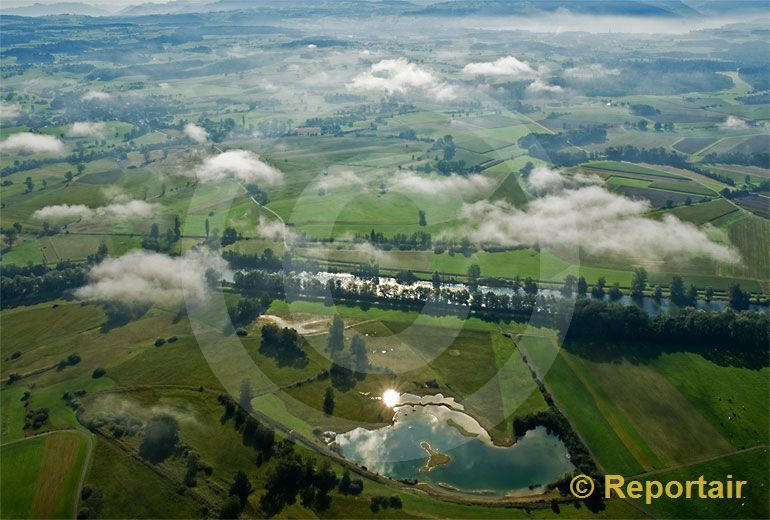 Foto: Maschwander Ried bei Maschwanden ZH. (Luftaufnahme von Niklaus Wächter)